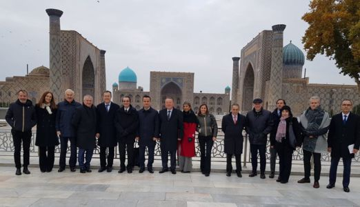 Family Photo Of The Lombardy Delegation With The Uzbekistan Hosts